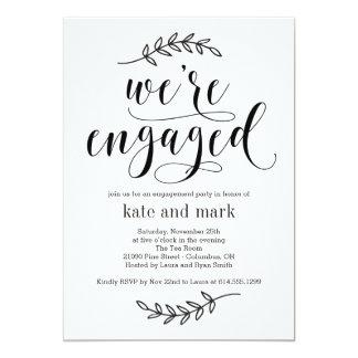 Convite rústico da festa de noivado da elegância