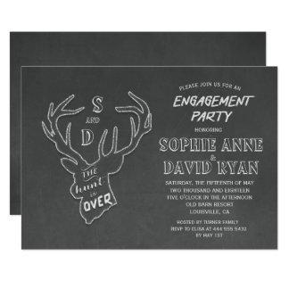 Convite rústico da festa de noivado do giz dos