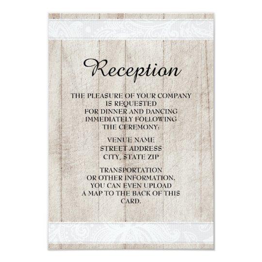 Convite rústico da recepção de casamento da