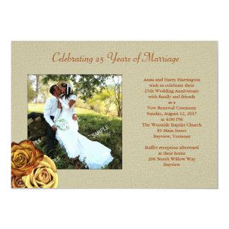 Convite rústico da renovação do voto de casamento