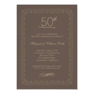 Convite rústico do aniversário de casamento do
