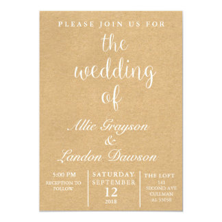 Convite rústico do casamento