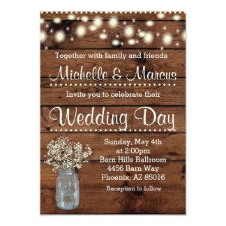 Convite rústico do casamento, convite do casamento