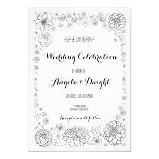 Convite rústico do casamento da flor