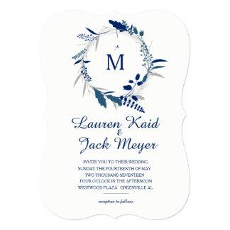Convite rústico do casamento da grinalda floral do