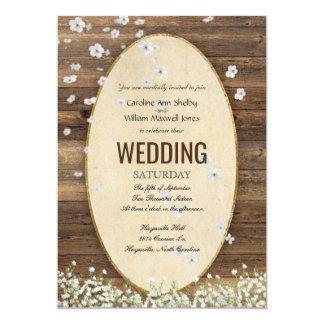 Convite rústico do casamento da pétala da flor do