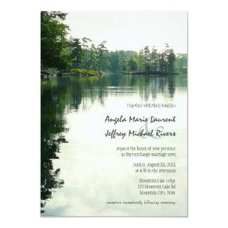 Convite rústico do casamento da reflexão do lago convite 12.7 x 17.78cm