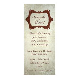Convite rústico do casamento das cadeiras antigas