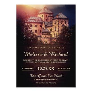 Convite rústico do casamento do castelo do conto