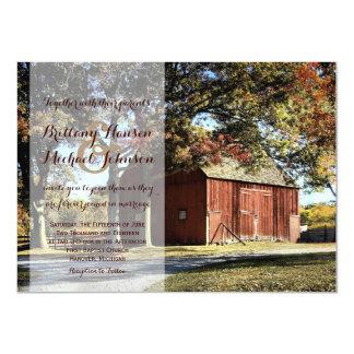 Convite rústico do casamento do celeiro e do país