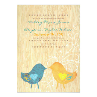 Convite rústico do casamento do Woodgrain dos