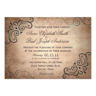Convite rústico do casamento vintage