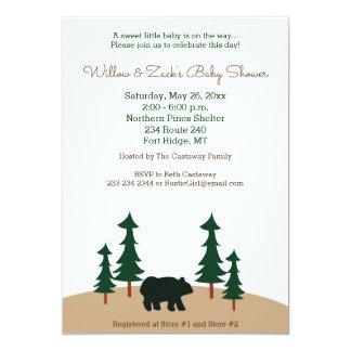 Convite rústico do costume do pinheiro do urso
