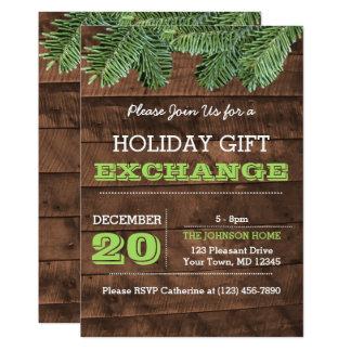 Convite rústico do feriado dos ramos da madeira e
