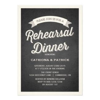 Convite rústico do jantar de ensaio do roteiro ret