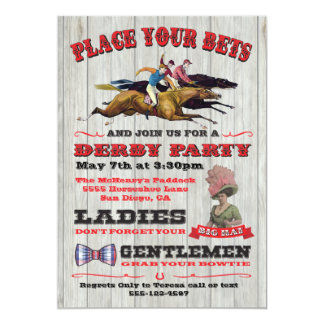 Convite rústico do poster do partido de Derby da