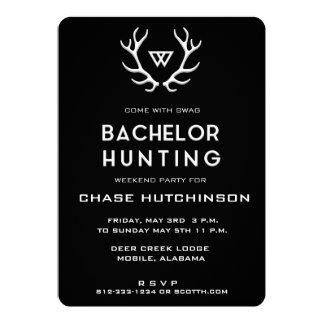 Convite rústico do solteiro da caça