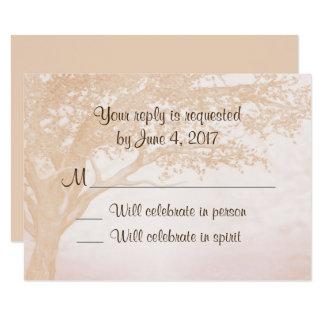 Convite rústico simples do casamento com o cartão