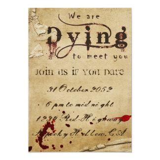 Convite sangrento do Dia das Bruxas
