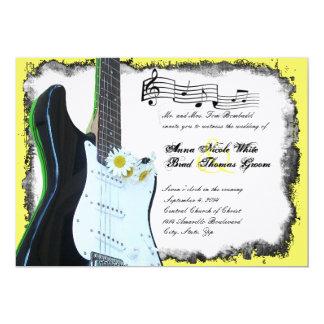 Convite selvagem do casamento da música do limão