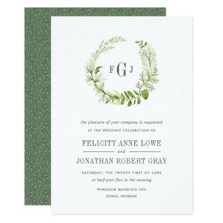 Convite selvagem do casamento do monograma do convite 12.7 x 17.78cm