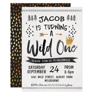 Convite selvagem do primeiro aniversario dos