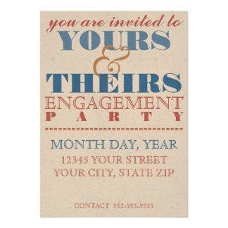 Convite simples da festa de noivado