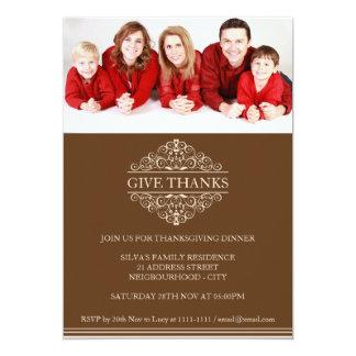 Cartão Convite simples da foto de família do comensal da