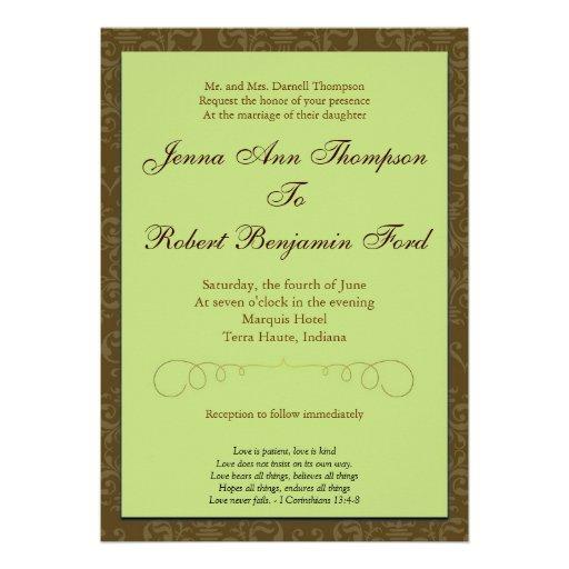 Convite simples do casamento