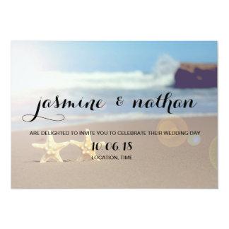 Convite simples do casamento da estrela do mar