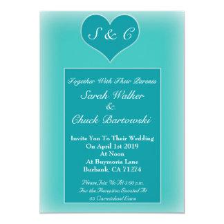 Convite simples do casamento do coração