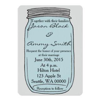 Convite simples do casamento do frasco de pedreiro