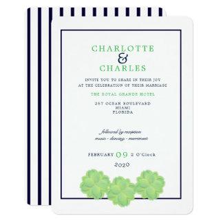 Convite simples do casamento do Succulent botânico