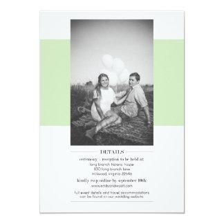 Convite simples do casamento do verde prudente com