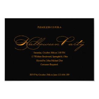 Convite simples do Dia das Bruxas Convite 8.89 X 12.7cm