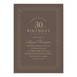 Convites Aniversário Simples Para Aniversário De 30 Anos Zazzlecombr