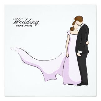 Convite simples, elegante do casamento