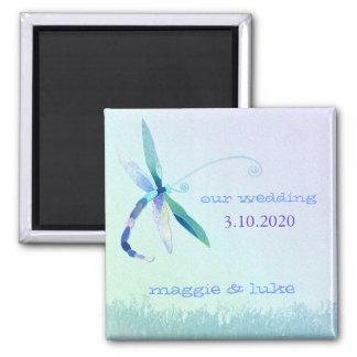 Convite sonhador do casamento da libélula do imã