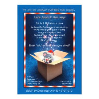 Convite Sparkling da festa de Natal da caixa de