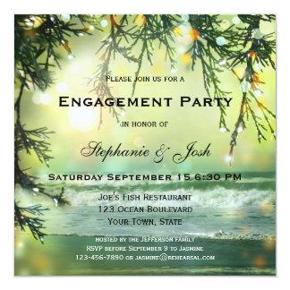 Convite Sparkling da festa de noivado da praia das