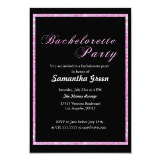 Convite Sparkling da festa de solteira do brilho