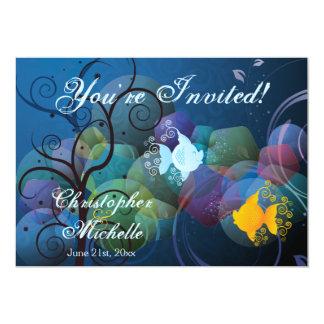 Convite subaquático colorido do casamento de praia