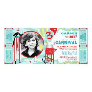Convite T-AQRD do aniversário do tema do carnaval