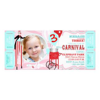 Convite T-PKRD do aniversário do tema do carnaval