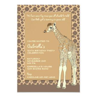 Convite Tawny do girafa