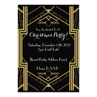 convite temático da festa de Natal dos anos 20