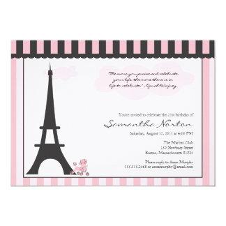 Convite temático do aniversário de Paris