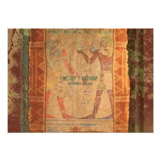 Convite temático egípcio antigo do casamento