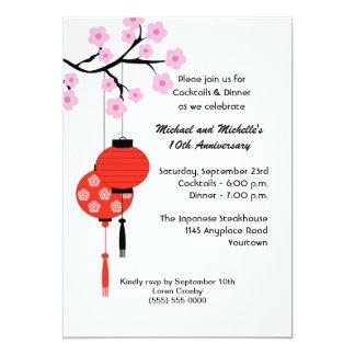 Convite temático japonês do aniversário