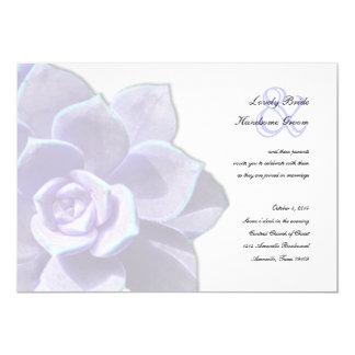Convite translúcido do casamento do Succulent do
